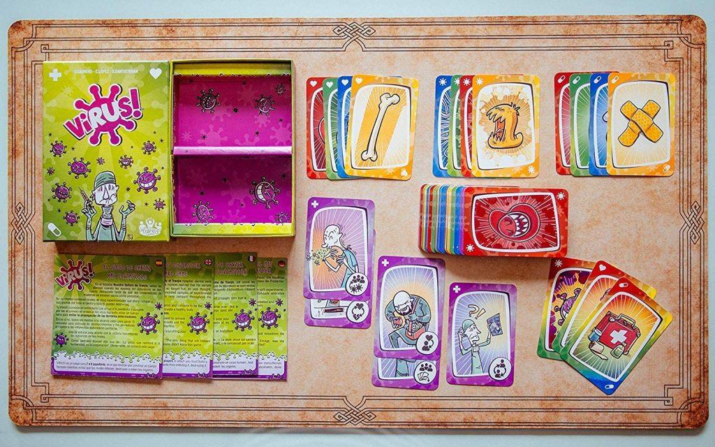 Capitanes-Fantasticos-Juegos-para-niños-familia-Virus-Cartas-Set